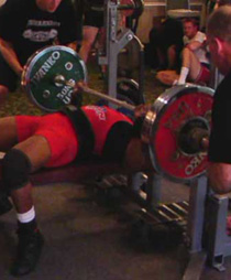 Tony Conyers Benching at the RUM2